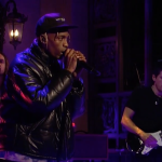 Travis Scott performs on SNL with John Mayer and Kevin Parker