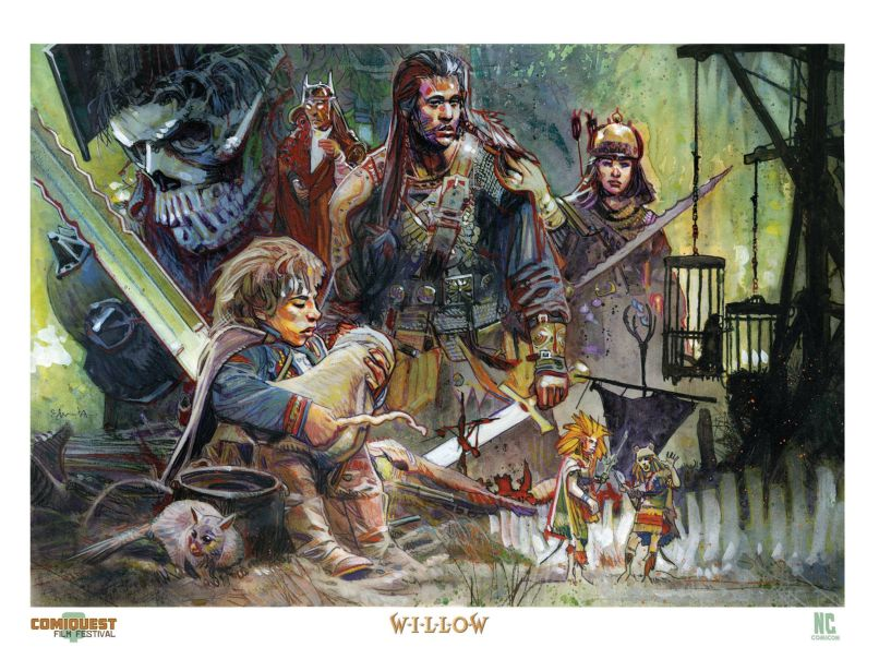 willow print by tommy lee edwards nccc state of the empire Celebrate Willows 30th Anniversary at North Carolina Comicon