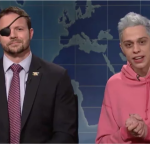 Dan Crenshaw and Pete Davidson, NBC's Saturday Night Live