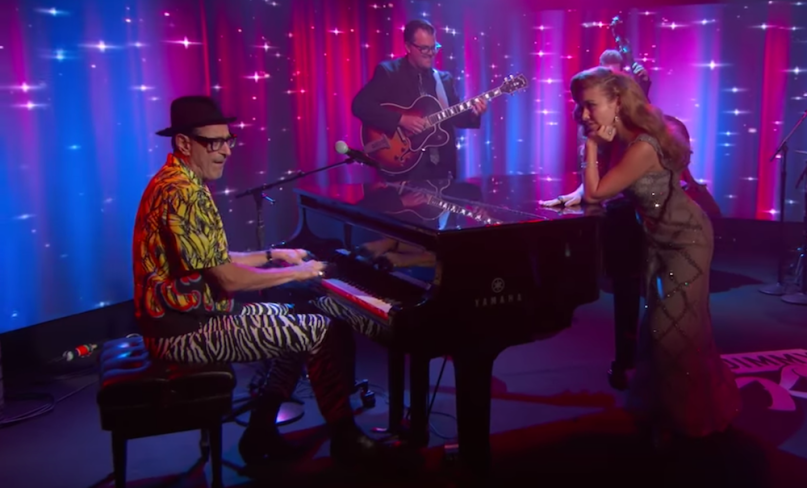 Jeff Goldblum My Baby Just Cares for Me Mildred Snitzer Orchestra Haley Reinhart