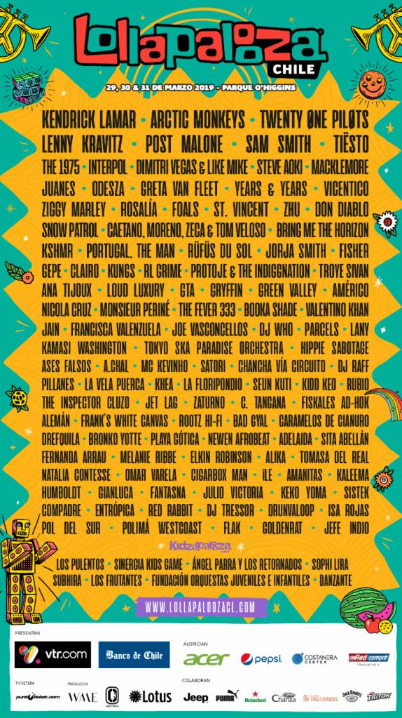 Lollapalooza Chile 2019 lineup