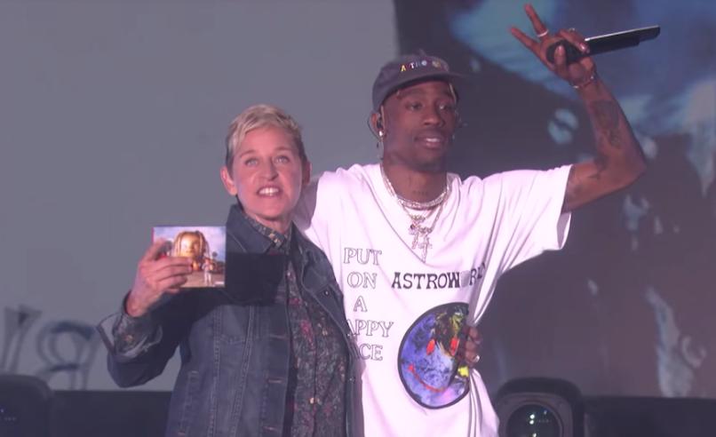 Travis Scott The Ellen Show Sicko Mode Kylie Delivery