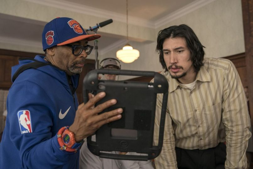 "Spike Lee and Adam Driver, ""BlacKkKlansman"", Focus Features"