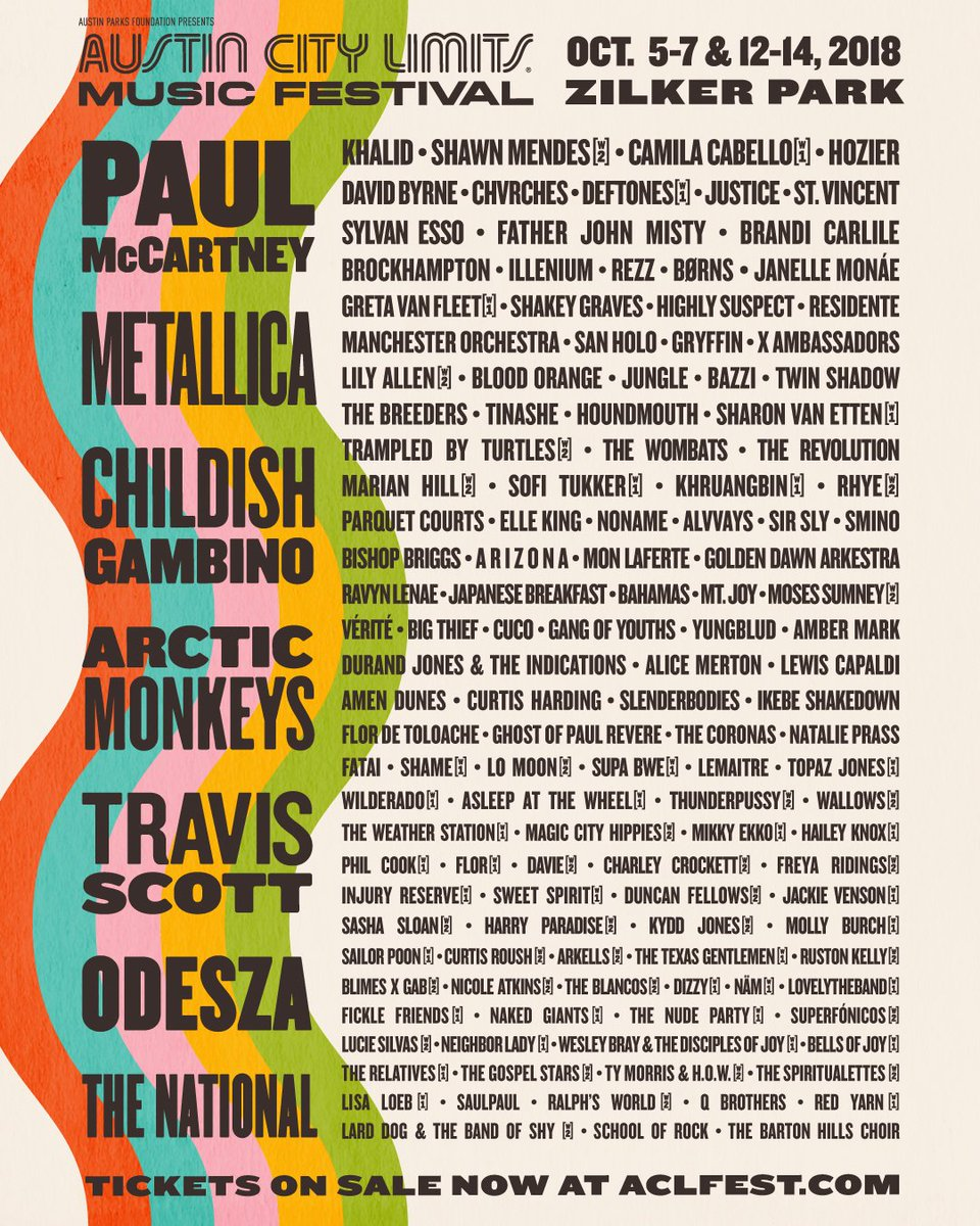 ACL festival 2018 lineup