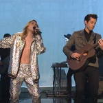 Miley Cyrus and Mark Ronson on SNL