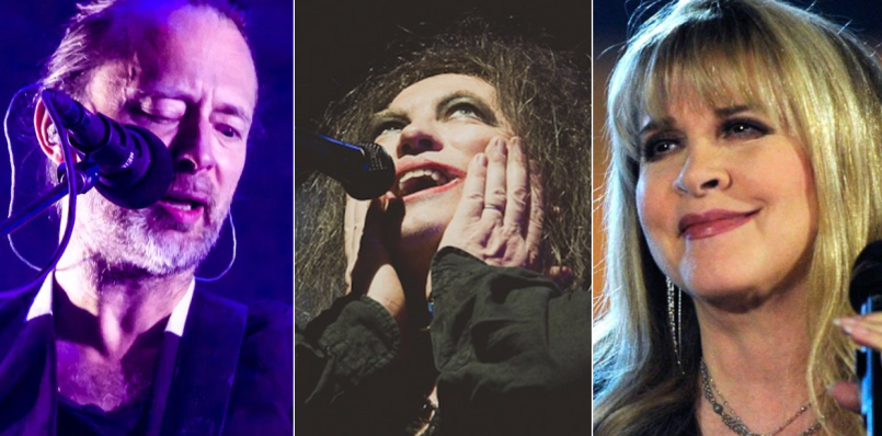 Radiohead (Lior Phillips), The Cure (Debi Del Grande), and Stevie Nicks