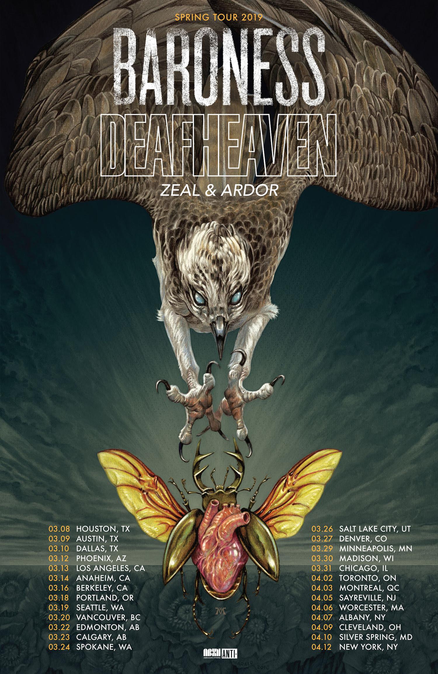 Baroness Deafheaven tour poster