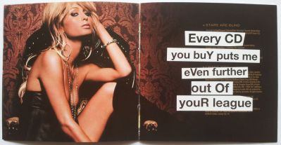 Banksy's spoofing of Paris Hilton's debut album