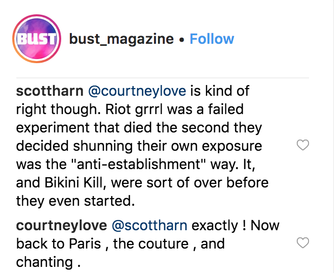 courtney love bikini kill feud riot grrl failed Courtney Love reignites Bikini Kill feud: DIY nonsense dilettante