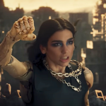 "Dua Lipa ""Swan Song"" video single Alita: Battle Angel"
