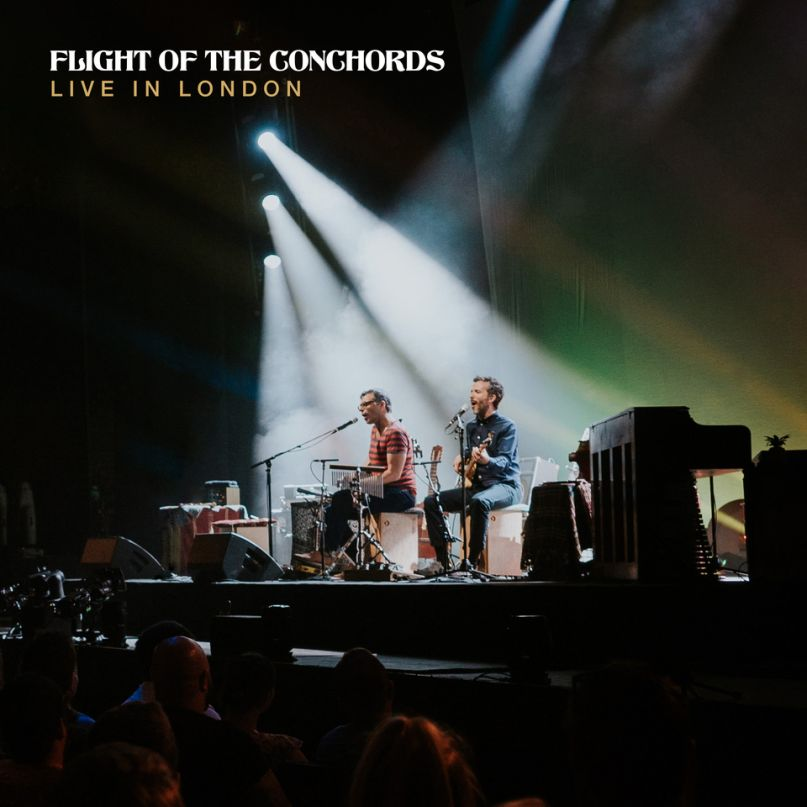 flight of the conchords live in london album cover artwork