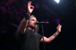 Mark Osegueda performs with Metal Allegiance