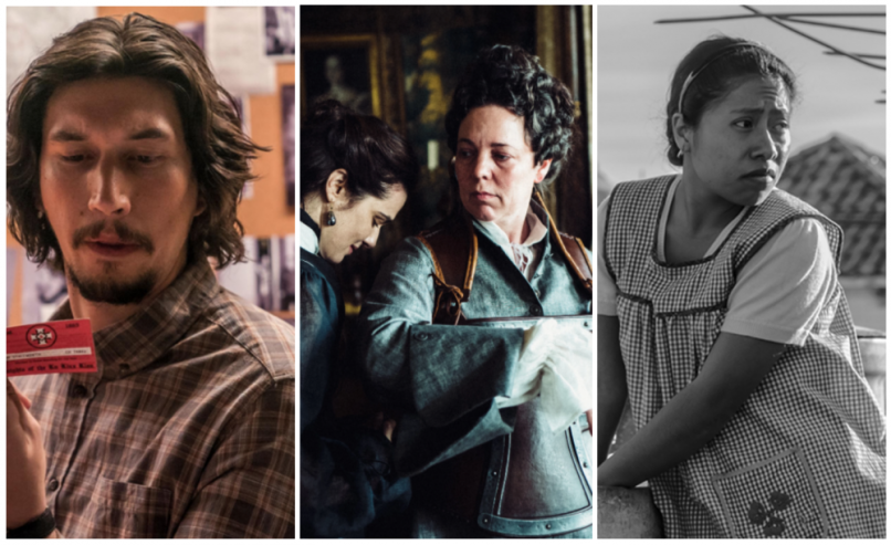 BlacKkKlansman, The Favourite, Roma