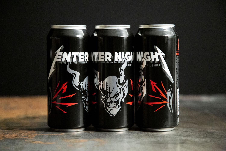 Three Cans Enter Night Pilsner