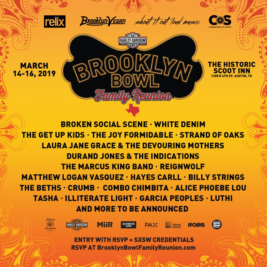 2019 Brooklyn Bowl SXSW lineup