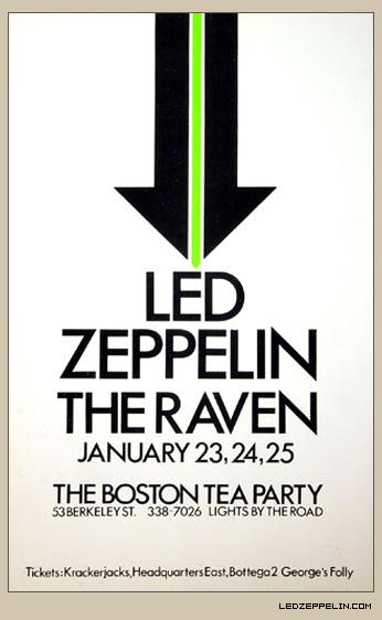 Led Zeppelin Boston Tea Party Poster