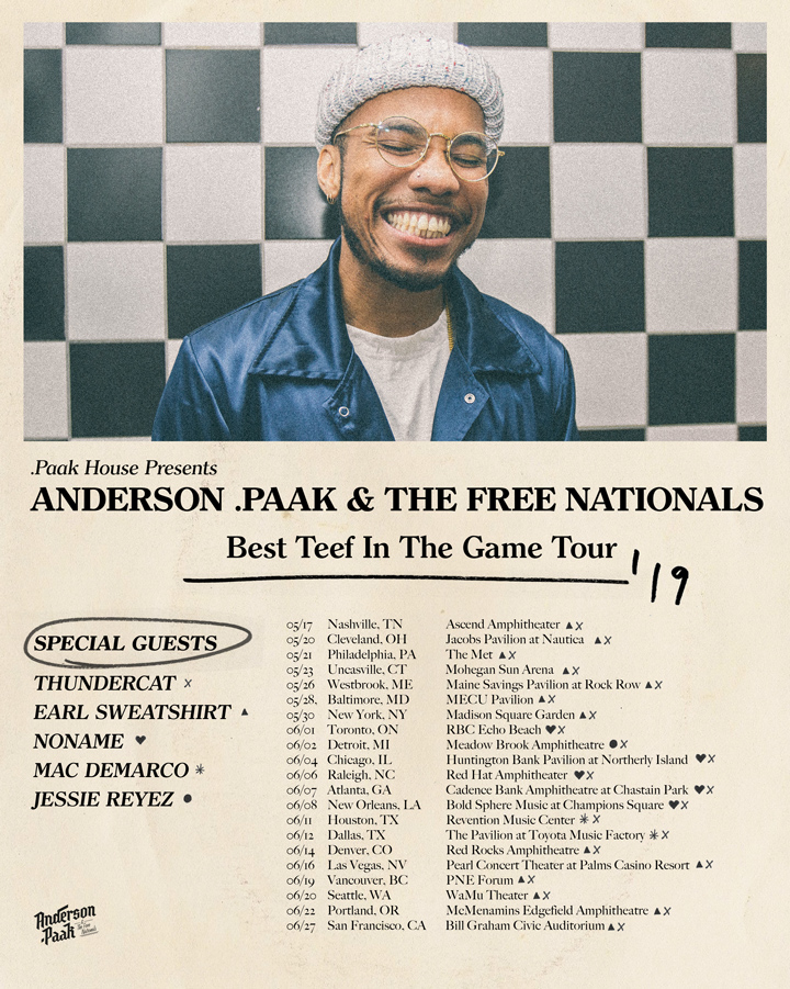 anderson paak best teef in the game tour Anderson .Paak announces new album, Ventura, plus North American tour