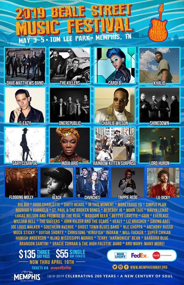 Beale Street 2019 lineup