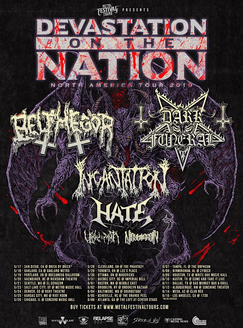 Devastation on the Nation tour poster
