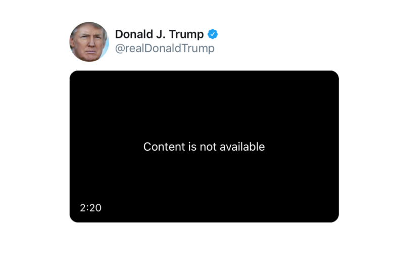 "Trump's ""Everybody Hurts"" video removed"