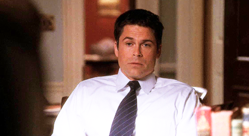 Rob Lowe as Sam Seaborn on The West Wing