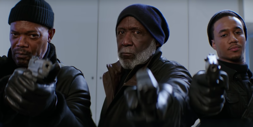 Samuel L. Jackson, Richard Roundtree, Jessie T. Usher, Shaft, New Line Cinema