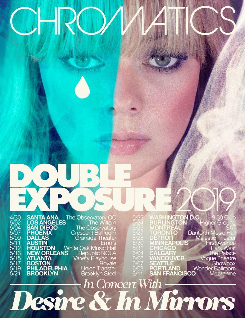 Chromatics, 2019 Tour Dates, Tour Poster