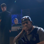 "Travis Scott 2019 Grammys performance video james blake ""no bystanders"" ""stop trying to be god"""