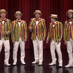 Weezer Rivers Cuomo Buddy Holly Barbershop Quartet The Tonight Show Starring Jimmy Fallon Living in L.A. late show performance