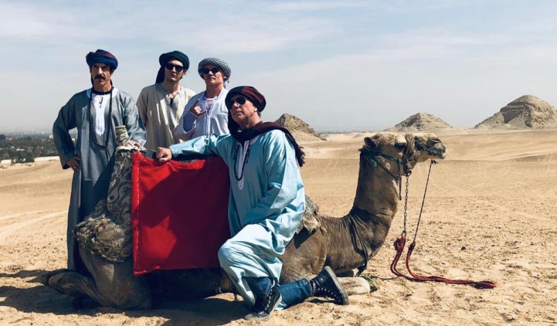 Red Hot Chili Peppers in Egypt, photo via @RaniaAlMashat / Twitter