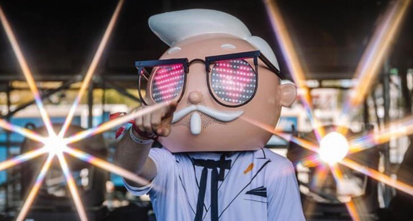 Colonel Sanders at Ultra Music Festival
