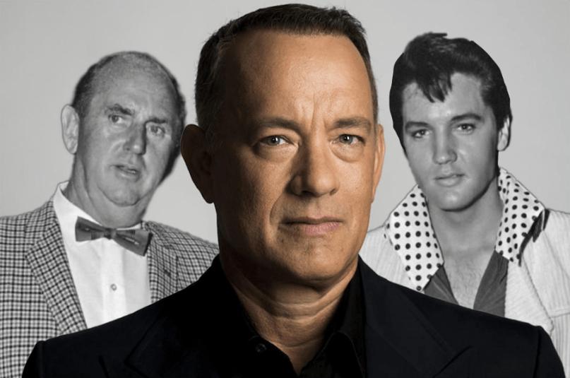 Colonel Tom Parker, Tom Hanks, and Elvis Presley Bas Luhrmann biopic