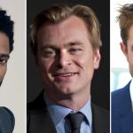 John David Washington, Christopher Nolan, and Robert Pattinson