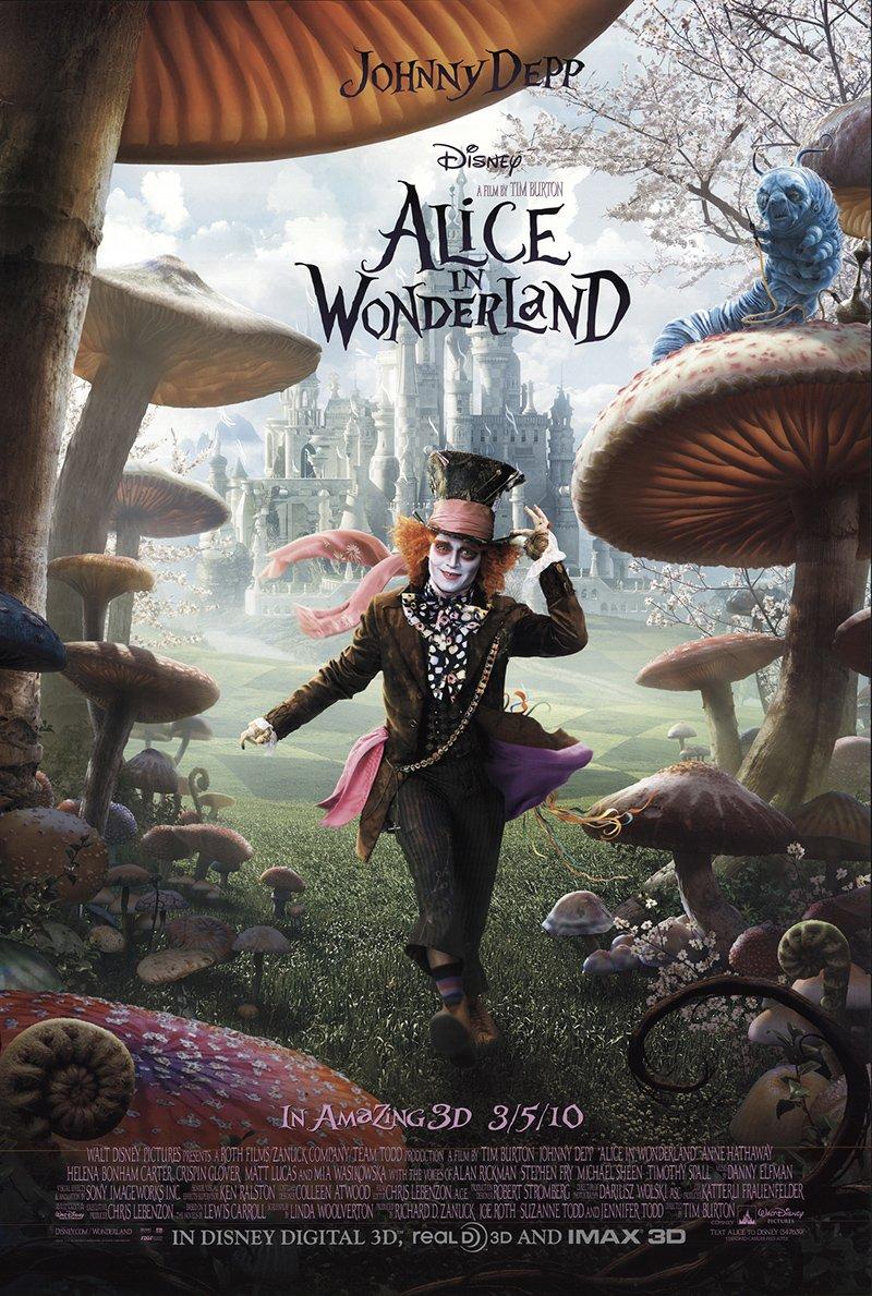 alice in wonderland tim burton johnny depp movie