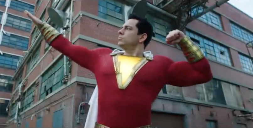 Shazam trailer 2 watch dc films Zachary Levi