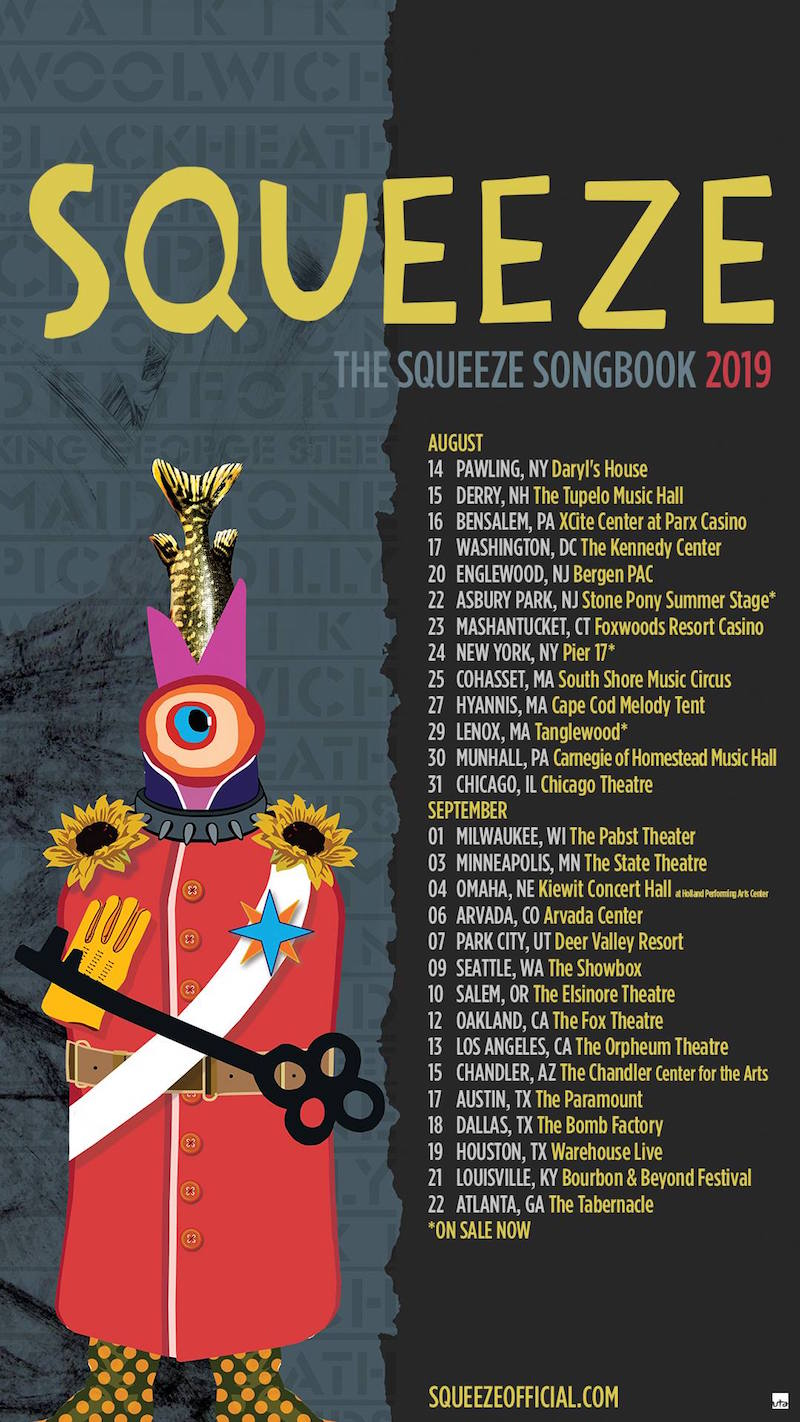 Squeeze Songbook Tour Dates 2019 concert tickets