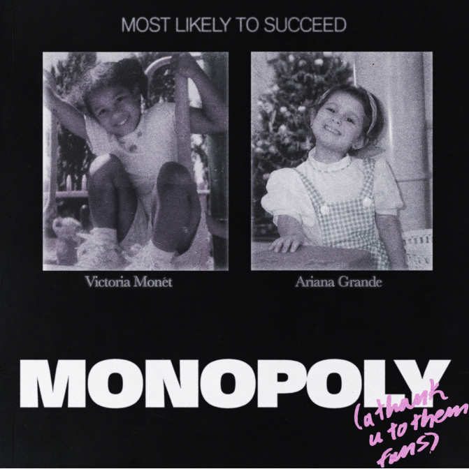 Ariana Grande's Monopoly artwork