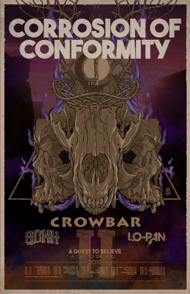 Corrosion of Conformity tour poster