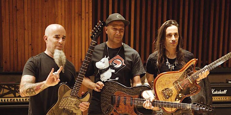 Scott Ian, Tom Morello, and Nuno Bettencourt