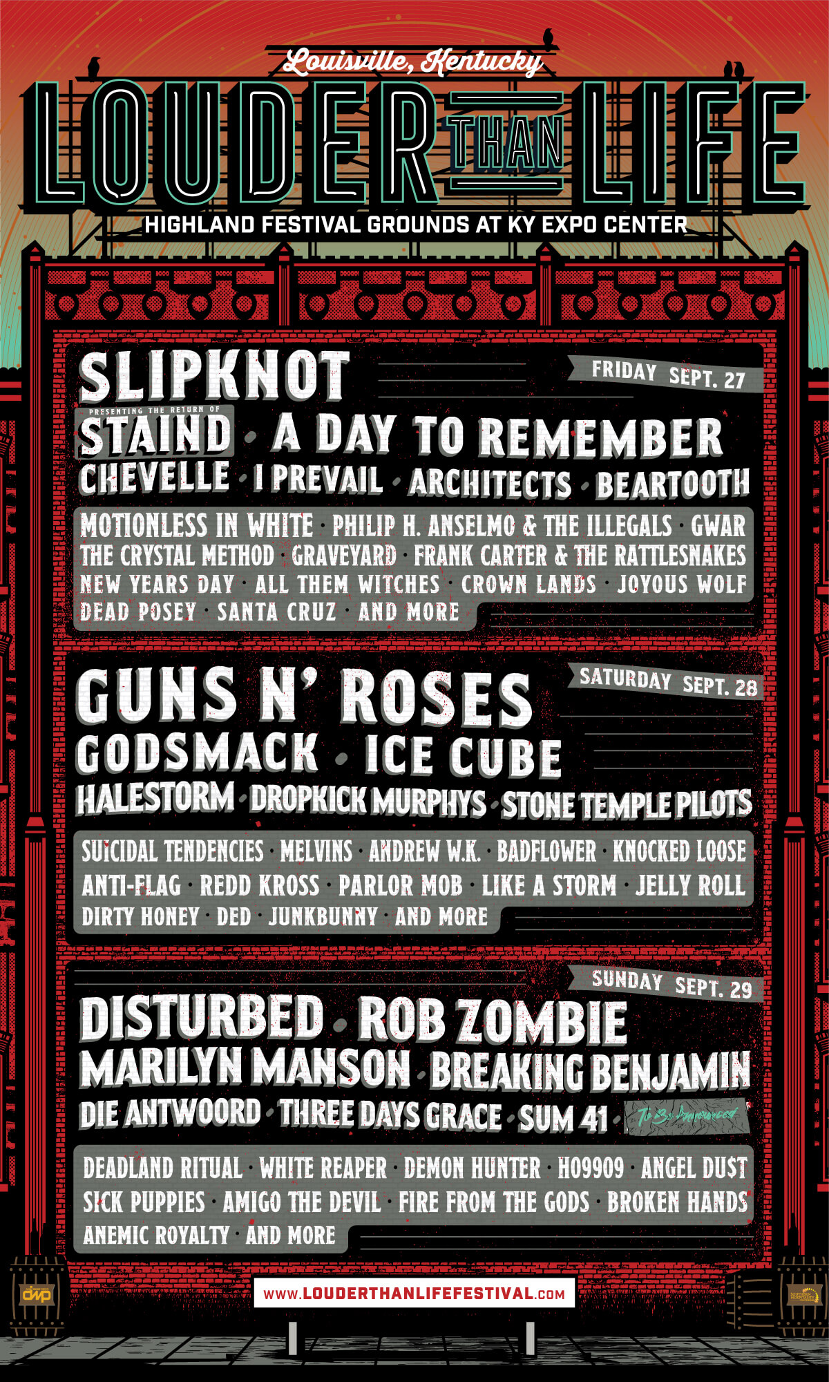 Louder Than Life Fest 2019 Lineup Poster