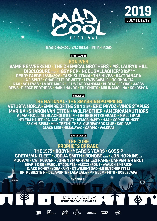Mad Cool 2019 lineup final