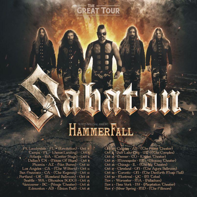 Sabaton Tour Poster 2019