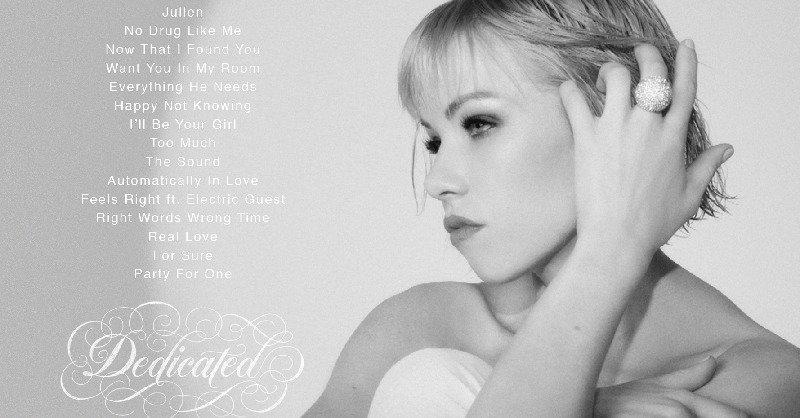 carly rae jepsen dedicated album tracklist