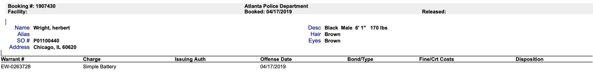g herbo police report battey