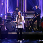 """Maggie Rogers """"Say It"""" Questlove Fallon performance video watch"""