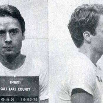 Ted Bundy, Black and White, Mug Shot,