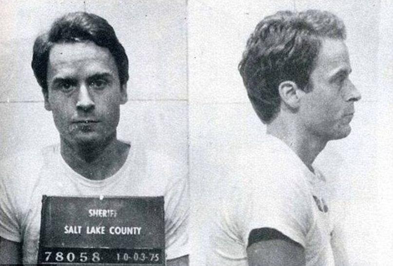 Ted Bundy, Black and White, Mug Shot,
