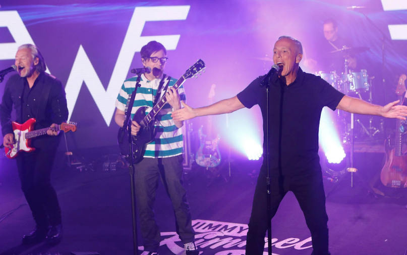 "Weezer and Tears For Fears Jimmy Kimmel Live performance video ""Everybody Wants to Rule the World"""