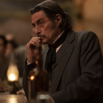 Ian McShane as Al Swearengen in HBO's Deadwood: The Movie