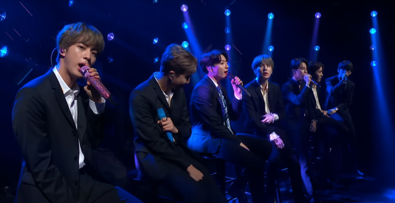 "BTS perform ""Make it Right"" on Colbert"